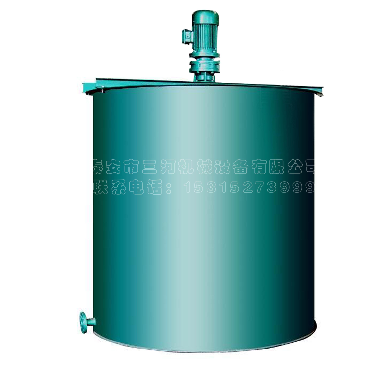单箱式加药装置絮凝剂搅拌桶_泰安市三河机械设备有限